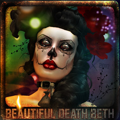 Beautiful Death Beth (MiaSnow) Tags: girl skull avatar sl secondlife beautifuldeath miasnow miasnowmyriam skinbymiasnow skinmaker hairbyboon avatarskindesigner sugarskullgirl beautifuldeathbeth