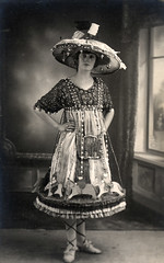 Woman dressed as a carousel (lovedaylemon) Tags: old woman vintage found roundabout carousel fancydress