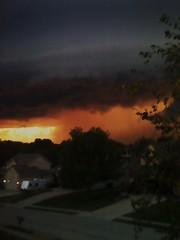 0915001937a[1] (Cougarjay94) Tags: sunset sun storm rain hail clouds nebraska wind millard omaha storms ralston papillion shelfcloud