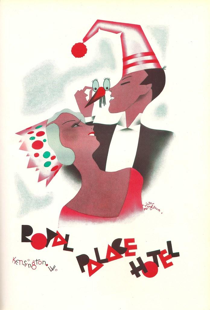 J Lyons - Royal Palace Hotel, Kensington, London - menu card by Victor Reinganum, 1932