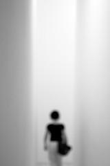 lost in narrow paths... (...storrao...) Tags: blackandwhite bw woman portugal silhouette museum stairs nikon museu noiretblanc corridor nb bn porto corredor unfocus escadas serralves pretobranco silhueta desfocado d90 storrao sofiatorro nikond90bw mareevisitingporto withmareeatserralves