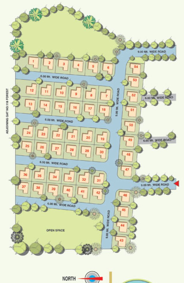 Forest View Bungalows Layout Plan