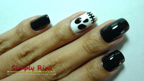Nail Art Halloween Skull 01