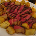 Roast beef and roast potatoes