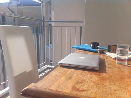 Balcony Office ist das neue Home Office