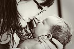 eskimo kiss ({Kate C.}) Tags: bw love nikon kiss child sweet mother newborn highkey eskimokiss d90