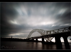 The long and short of it.... (Chrisconphoto) Tags: uk longexposure sky movement merseyside runcornbridge weldingglass 1minuteexposure