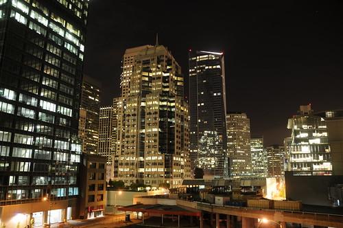 San Francisco at night from the Logitech Loft