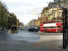 victoria road then in now (Dave S Campbell) Tags: road scotland glasgow victoria southside then now cathcart pollokshaws muirend