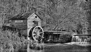 Hyde Mill HDR Black and White
