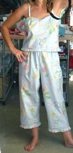 Pajamas made from PB sheets