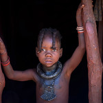Himba kid in his house - Angola