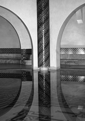 Casablanca, Morocco (danshill) Tags: pool mirror king arch sony mosque morocco tiles ii inside casablanca hassan a200 refelction blackwhitephotos
