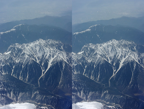 Mount Hotaka, stereo parallel view
