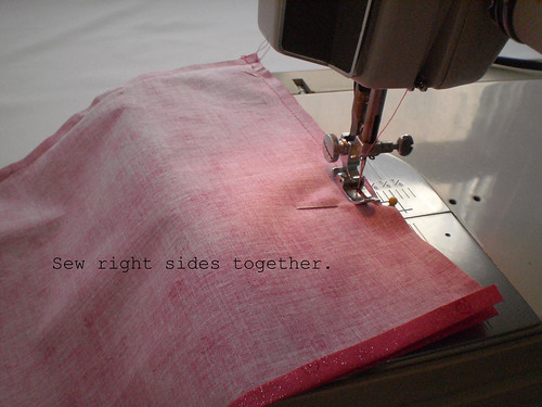 sew right sides