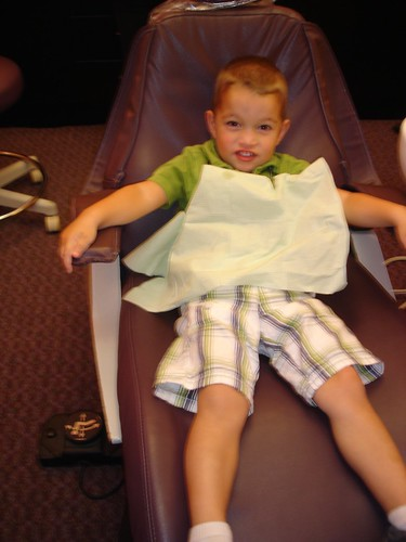 Ethan's first dental visit