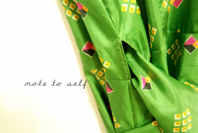 the green sari dress