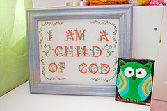 I am a Child of God sign from Mom and Owl pain...