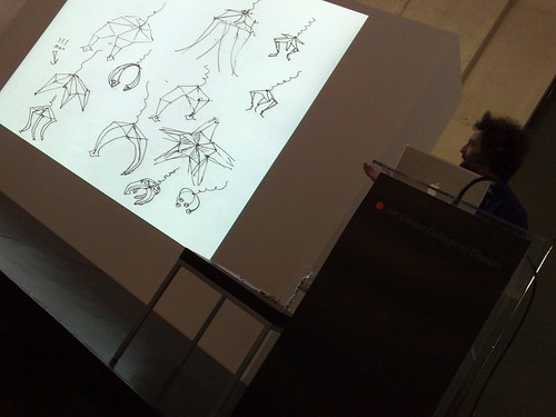 Eddo Stern discusses Dark Game hardware at Art Center Media Design Program Design Dialogues
