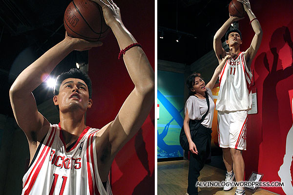 Look at how tall Yao Ming is - Rachel can barely touches his chin!