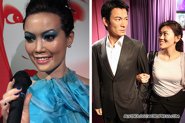 Singer Joey Yung (容祖儿) and Andy Lau