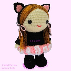 Bella im Ballerina-Cat Suit (haekelanleitungen) Tags: ballerina katze amigurumi mädchen puppe ballett puppen häkeln häkelanleitung häkelmuster
