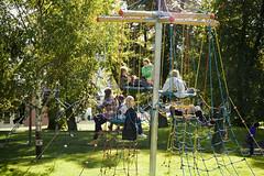 Bristol (KarenGuy) Tags: park people music playing playground bristol hill teenagers climbing frame recreation accordian