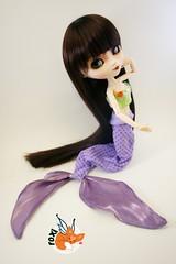 Little Pullip Mermaid (foxifaeri) Tags: ariel costume doll handmade disney fairy fantasy bjd pullip mermaid blanche couture junplanning