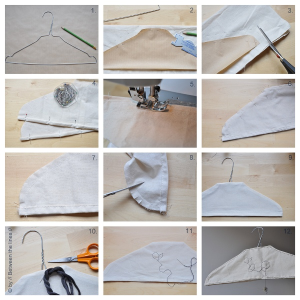 DIY hanger cover tutorial by Between The Lines