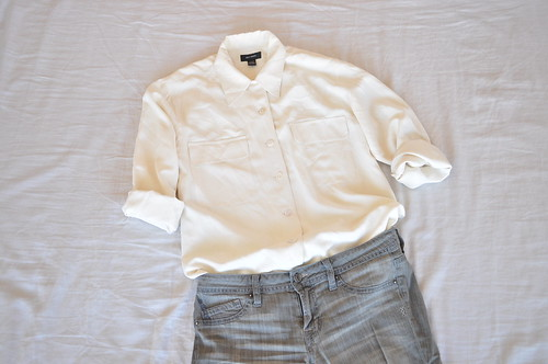 vintage small cream shirt