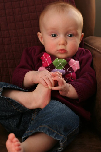 Seven Months -- The Foot Grab