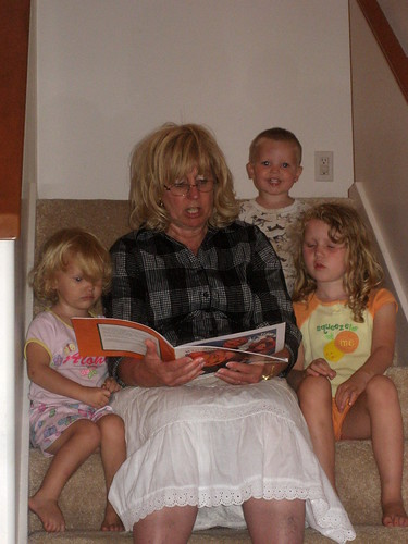 Grandma Liz reading stories