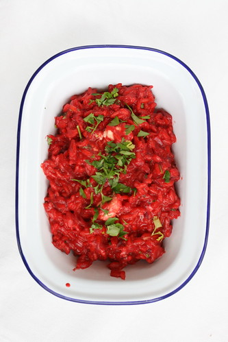 Beetroot and blue cheese risotto / Peedirisoto sinihallitusjuusturisoto