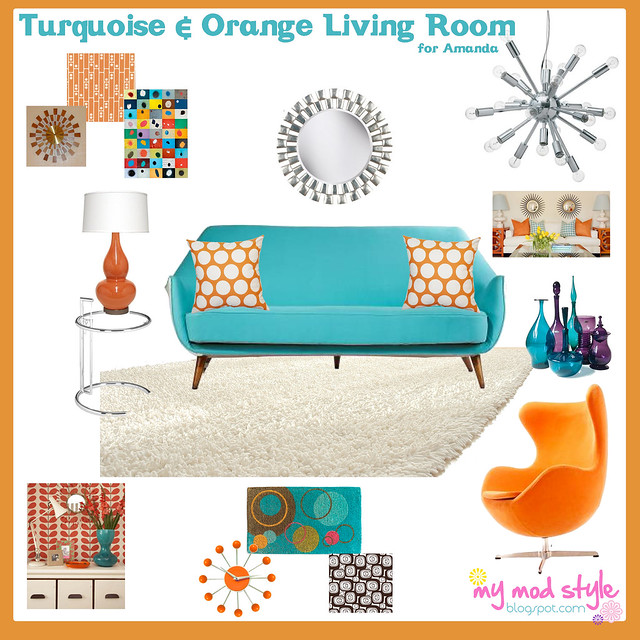 Design Board - Amandas Living Room