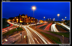 Glasgow, Scotland (Surajit..) Tags: longexposure nightscape glasgow charingcross lighttrail