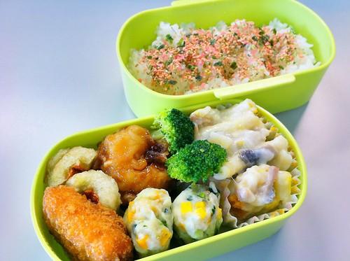今日のお弁当 No.33 – 鮭青菜