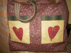 Eco bag!!! (De volta pra casa by Carla Magdaleno) Tags: bag artesanato coração bolsa bolso ecobag aplicação sacola carlamagdaleno