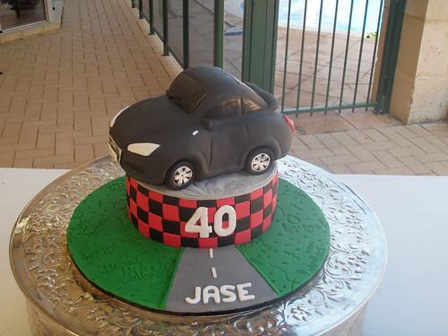 Mossy's Masterpiece - 40th Birthday Audi TT cake