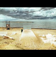 TO THE SKY WALL (Elena Fedeli) Tags: sea sky italy storm muro beach wall sand italia mare riva cielo puglia spiaggia bari stormyweather temporale tempesta apulia sponda paneepomodoro