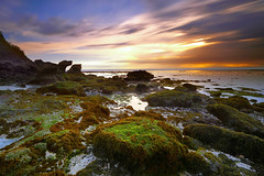 She may be pretty but ever so gloomy. (tropicaLiving - Jessy Eykendorp) Tags: light bali seascape beach nature canon indonesia landscape lee uluwatu filters 1022mm canoneos50d suluban bigstopper