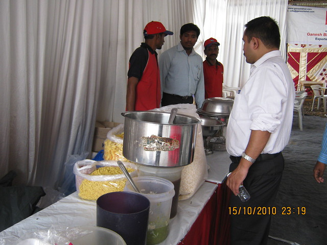 Snacks for the property buyers at Vastushodh's UrbanGram at Kondhawe Dhawade, near Warje, Pune