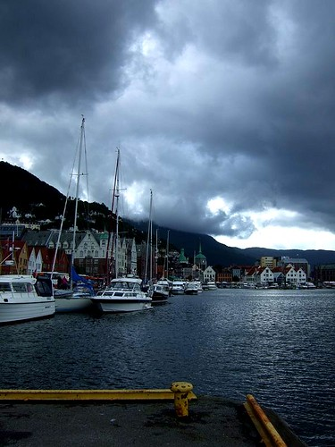 Bergen menacing clouds