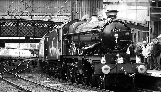 GWR Castle Class loco Earl of Mount Edgcumbe at Carlisle 011