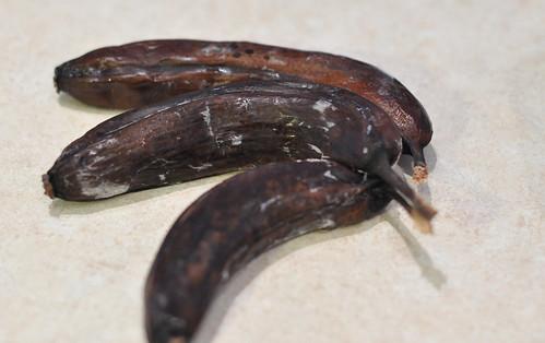 Over-ripe Banans for Banana Bread