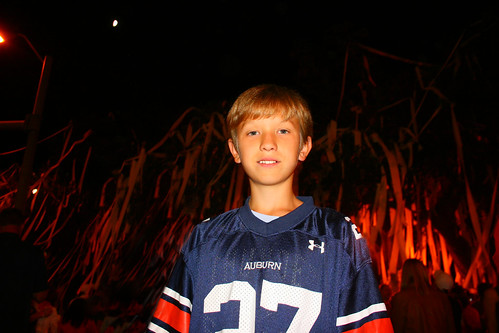 Drew at Toomer's after Auburn's win over Arkansas