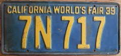 CALIFORNIA 1939 ---WORLD'S FAIR LICENSE PLATE (woody1778a) Tags: world auto california canada cars car sign vintage edmonton photos tag woody plate tags licenseplate collection number photographs license plates foreign 1939worldsfair 1939 numberplate licenseplates numberplates licenses cartag carplate carplates autotags cartags autotag foreigns pl8s worldplates worldplate foreignplates platetag californiaworldsfair