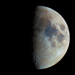 Moon    10/16/10 (zAmb0ni) Tags: sky moon color night canon solar system craters telescope crater xsi