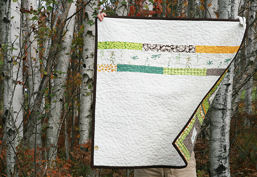 French Botanicals Quilt Back