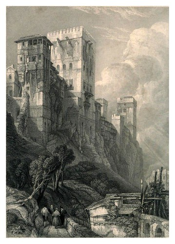 006-Torre de Comares-Tourist in Spain-Granada-1835-David Roberts