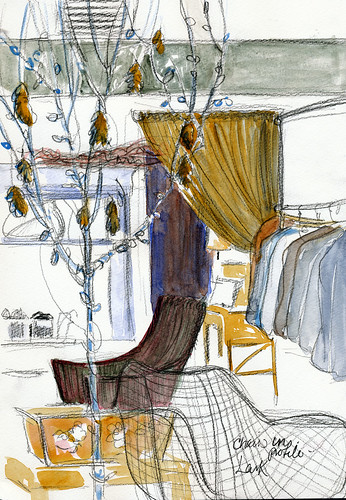 Chairs and tree: Lark Boutique